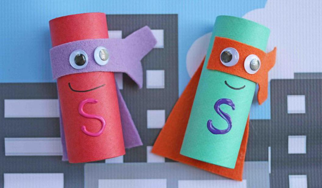 Toilet Roll Crafts: Superheroes @ Dubai