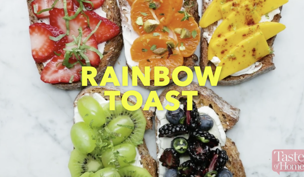 Rainbow Fruit Toast @ Dubai