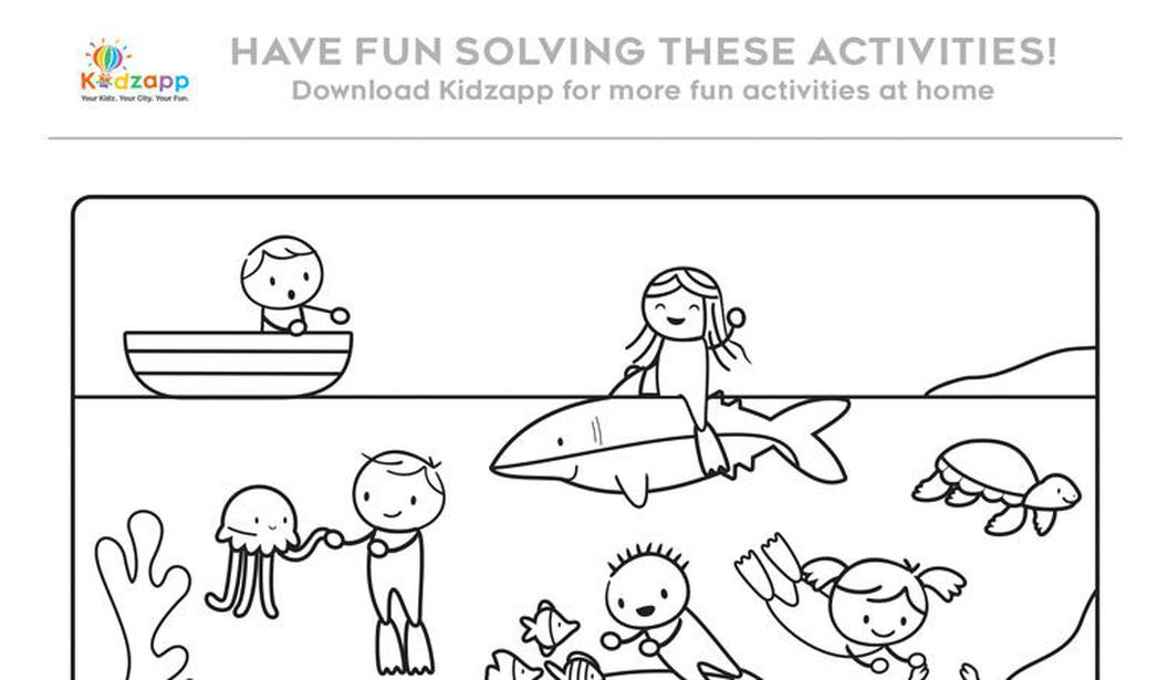 Kidzapp Activity Sheet (Colour/Word) @ Dubai, Book