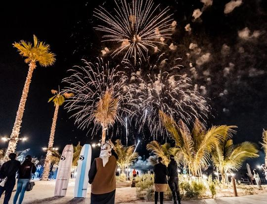 Fireworks and Love Entertainment at La Mer @ Dubai
