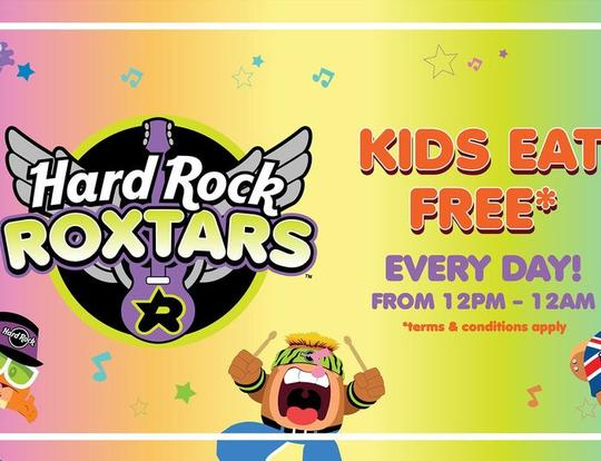 Kids Eat FREE at Hard Rock Café @ Dubai
