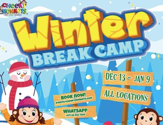Winter Break Camp at Cheeky Monkeys @ Dubai