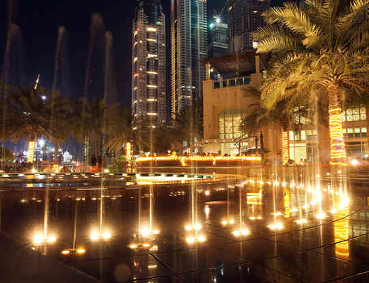 Dubai Marina Walk Fountain @ Dubai