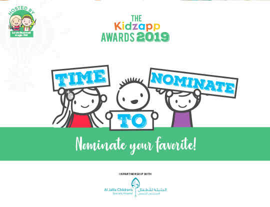 The Kidzapp Awards - Nominate Your Favorite! @ Dubai