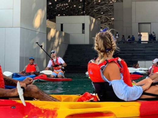 Kayaking at the Museum @ Abu Dhabi