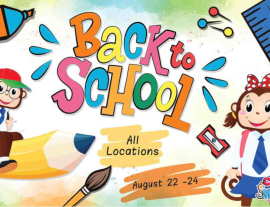 Back To School Party @ Cheeky Monkeys @ Ras Al Khaimah