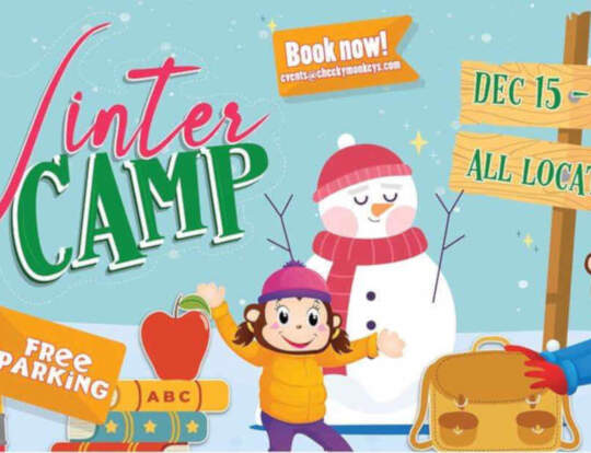 Winter Camp Fun @ Cheeky Monkeys @ Dubai
