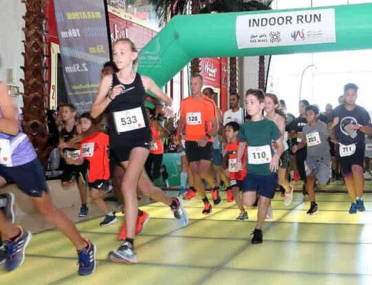 Yas Mall Indoor Run 2 @ Abu Dhabi